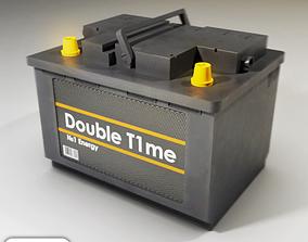 Car Battery Low Poly 3D model