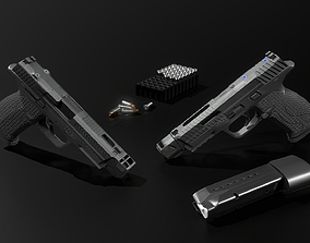 3D model Tactical Smith and Wesson MP9 9MM Handgun