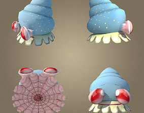 3D asset Mollusk Low Poly Character MAX 2011