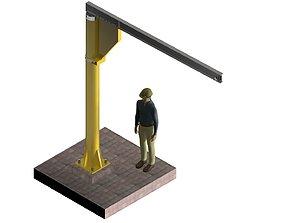 3D model 360 DEGREE ROTATING JIBLE CRANE
