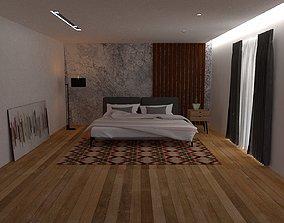 Aesthetic Bedroom 3D model