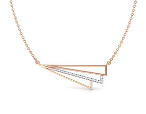 Stripes Geometric Necklace 3D print model