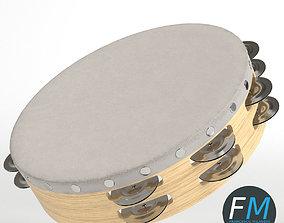 Tambourine equipment 3D PBR