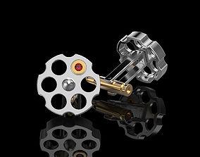 3D print model Russian Roulette cufflinks