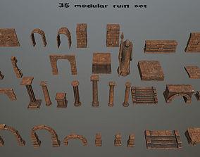 3D asset ruin set 02