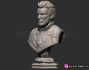 3D printable model Captain America Bust - Without Helmet 2