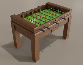 3D Classisc foosball wooden table