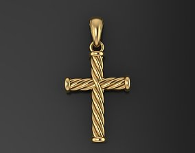 3D print model Catholic cross with a rope