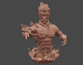 Human Torch Bust - Fantastic Four 3D print model