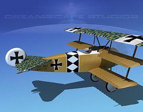 Fokker DR-1 Triplane V16 3D model