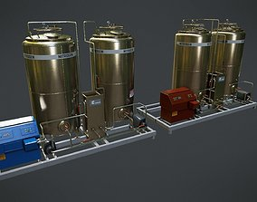 3D model Chemical Container 6