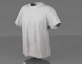 realtime T-shirt 3D model low poly