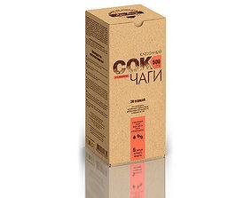 Dietary supplement tablet carton box 3 3D