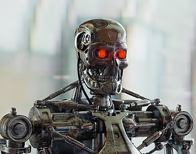 3D model Terminator T800 Corona