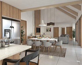 3D model DINING AND LIVING ROOM