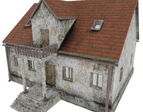 3D asset Post apocalyptic Villa