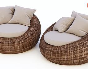 3D model Rattan chairs Kiwi