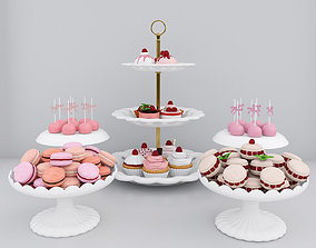bakery Raspberry candy bar 3D