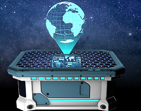 Holographic War Strategy Table - Game-Ready 3D asset