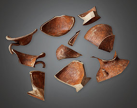 3D model Ancient Broken Clay Pots 01 TRS - PBR Game Ready
