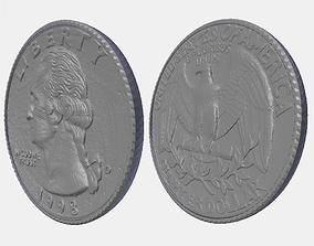 3D print model Quarter Coin