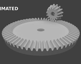 Bevel gear 3D model animated