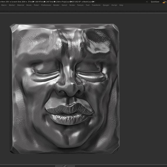 Face modern sculpture 3d print model