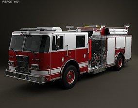 3D model Pierce Fire Truck Pumper 2011