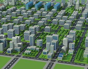 3D model Down town city scape
