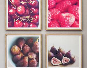 JUNIQE Fruit set framed 3D
