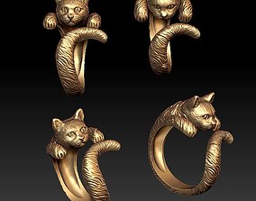 Cat ring 3D print model shave