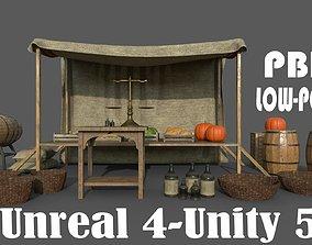 Camelot Market Square 3D asset