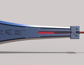 Hardedge sword from the game Final 3D print model 2
