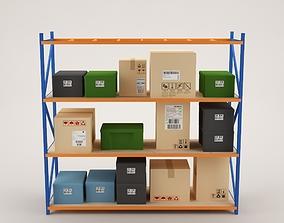 Warehouse Rack Storage 04 3D asset