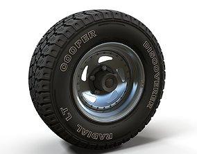 Offroad wheel car 3D model