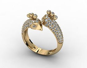 gold 3D printable model jewellery ring