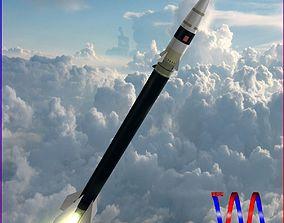 Black Brant VC Sounding Rocket 3D asset