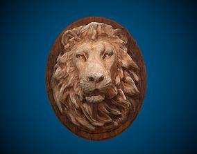 3D model Lion Head -Wooden Relief