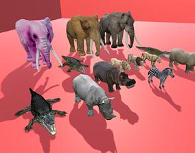 Wild Animals Pack 3D asset