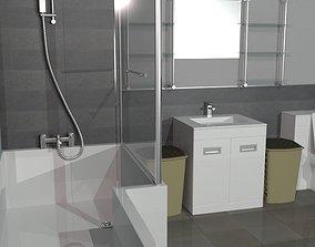 game-ready Full Bathroom Set 3D model