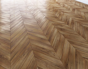 3D asset Parquet chevron classic Floor