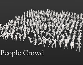 275 People Crowd Pack 3D model