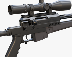 PGM Ultima Ratio Sniper Rifle 3D model