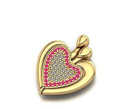 open shut named heart necklace 3D print model