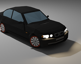 SPORTS CAR in low poly style 3D model