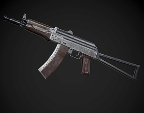 VR / AR ready AK-74U AAA FPS Game Ready Weapon Asset