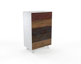 3D asset Upcycled Commode Cabinet