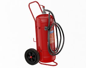 Foam Spray Fire Extinguisher 3D