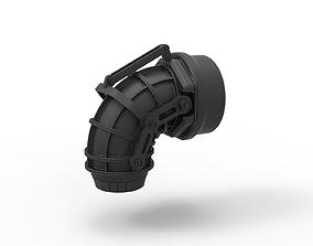 Diecast Jet nozzle 3D print model