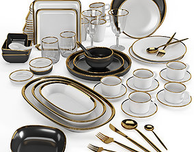 3D Kitchenware and Tableware 07